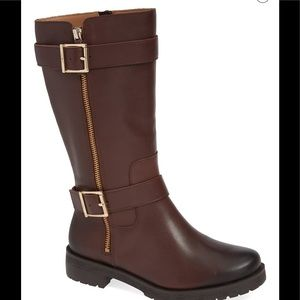 LAST PAIR! Vionic Marlow brown leather boots